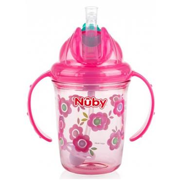 Nuby Sipeez Flip n Sip Training Cup with straw (Girl) 6 - 12M