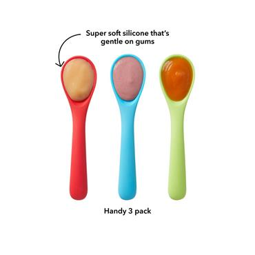 Nuby Muncheez Silicone Spoons 3 pack