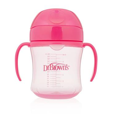 Dr Brown's Soft Spout Transition Cup Pink 6M+