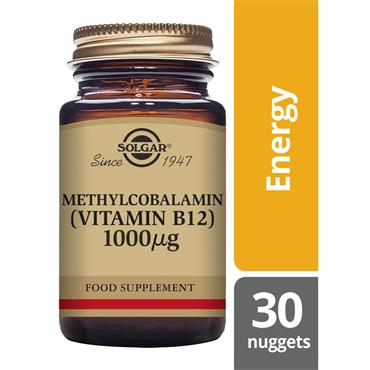 Solgar Methylcobalamin (Vitamin B12) 1000 ug Nuggets 30