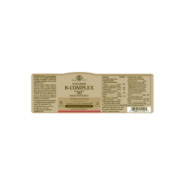 Solgar Formula Vitamin B-Complex 50 capsules 50s
