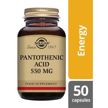 Solgar Pantothenic Acid 550 mg 50
