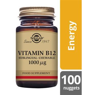 Solgar Vitamin B12 1000 ug Nuggets 100