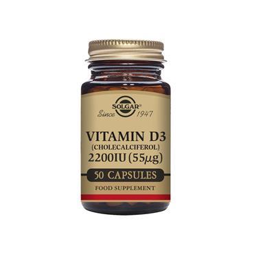 Solgar Vitamin D3 (Cholecalciferol) 2200 IU (55 ug) 50