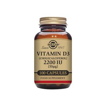 Solgar Vitamin D3 (Cholecalciferol) 2200 IU (55 ug) 100