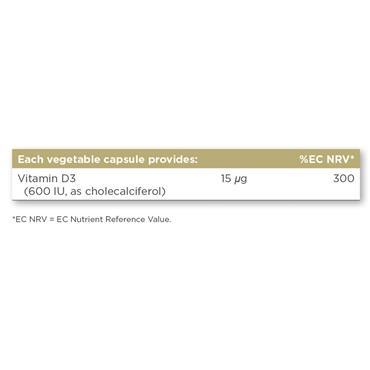 Solgar Vitamin D3 (Cholecalciferol) 600 IU (15 ug) 60