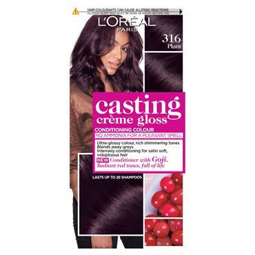 L'Oreal Casting Creme Gloss 316 Plum Brown Semi Permanent Hair Dye