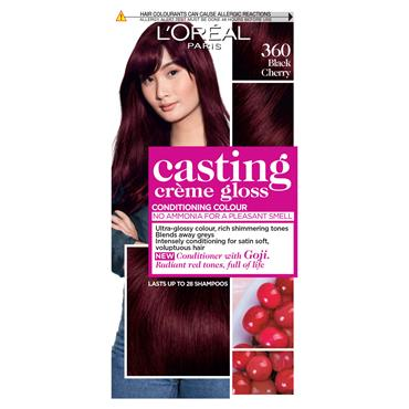 L'Oreal Casting Creme Gloss 360 Black Cherry Red Semi Permanent Hair Dye