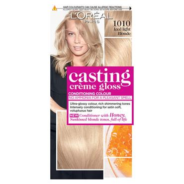 L'Oreal Casting Creme Gloss 1010 Iced Light Blonde Semi Permanent Hair Dye