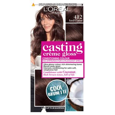 L'Oreal Casting Creme Gloss 412 Iced Cocoa Brown Semi Permanent Hair Dye