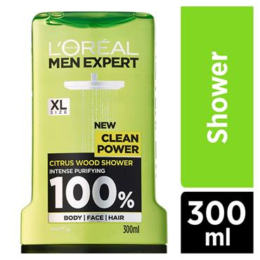 L'Oreal Men Expert Clean Power Shower Gel 300ml