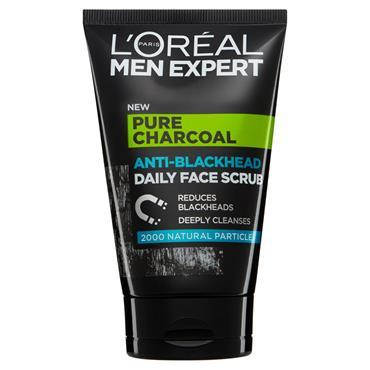 L'Oreal Men Expert Pure Charcoal Anti-Blackhead Daily Face Scrub 100ml