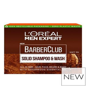L'OREAL MEN EXPERT BARBER CLUB SOLID SHAMPOO & WASH SOAP 80G
