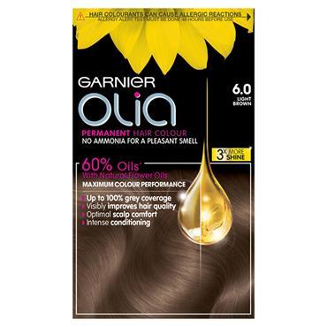 Garnier Olia 6.0 Light Brown Permanent Hair Dye