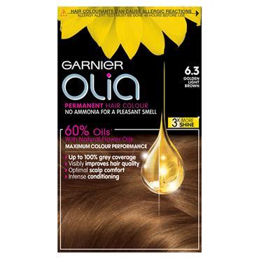 Garnier Olia 6.3 Golden Light Brown Permanent Hair Dye