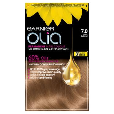 Garnier Olia 7.0 Dark Blonde Permanent Hair Dye