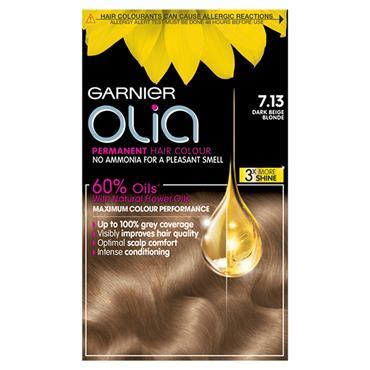 Garnier Olia 7.13 Dark Beige Blonde Permanent Hair Dye