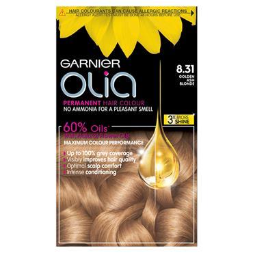 Garnier Olia 8.31 Golden Ash Blonde Permanent Hair Dye