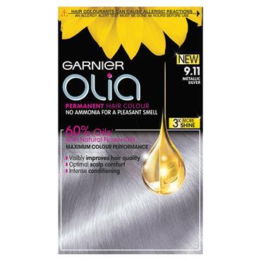 Garnier Olia 9.11 Metallic Silver Permanent Hair Dye