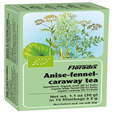 FLORADIX Organic Anise/Fennel/Caraway Tea 15 Teabags