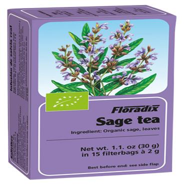 FLORADIX Organic Sage Tea 15 Teabags