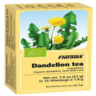 FLORADIX Organic Dandelion Tea 15 Teabags