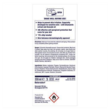 Nivea MEN Deodorant Sensitive Protect Spray 150ML