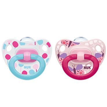 Nuk Happy Days Silicone Soother Girl S1 2 pack
