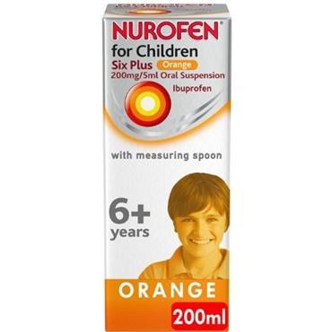 nurofen Children 6+ Orange 200mg/5ml Oral Suspension 200ml
