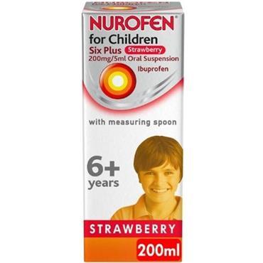 nurofen Children 6+ Strawberry 200mg/5ml Oral Suspension 200ml