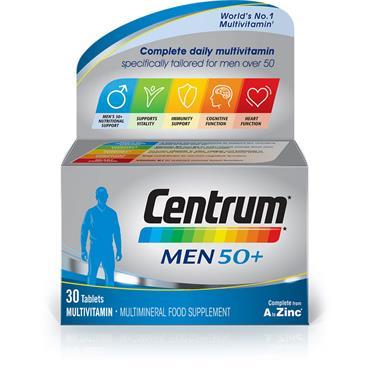 CENTRUM 50+ MENS TABLETS 30