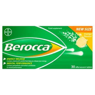 BEROCCA ENERGY MANGO EFFERVESCENT 30