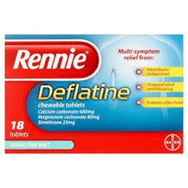 RENNIE DEFLATINE SUGAR FREE MINT 18