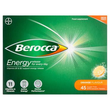 BEROCCA ENERGY ORANGE EFFERVESCENT 45