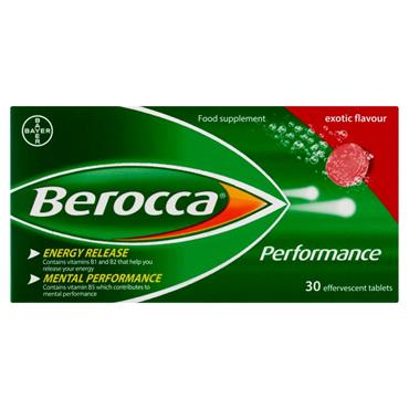 BEROCCA PERFORMANCE EXOTIC EFFERVESCENT 30
