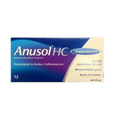 ANUSOL HC SUPPOSITORIES 12S