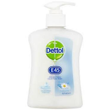 DETTOL WITH E45 ANTIBACTERIAL HANDWASH 250ML