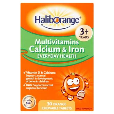 Haliborange Multivitamins Calcium & Iron Everyday Health 3+ orange 30s