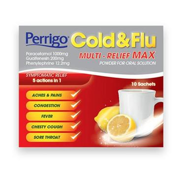 PERRIGO COLD N FLU MULTI RELIEF MAX SACHETS 10