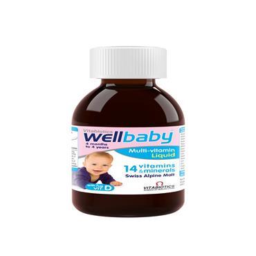 Vitabiotics Wellbaby Infant Liquid 4mth-4yr 150ml