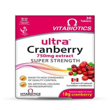 Vitabiotics Ultra Cranberry 750mg tabs 30's