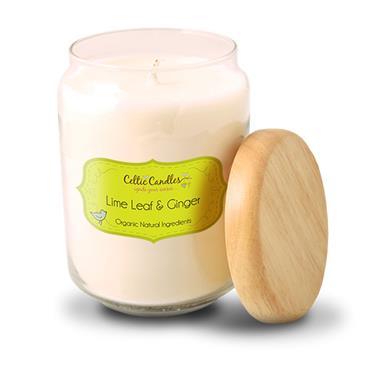 Celtic Candles Lime Leaf & Ginger candle large pop jar