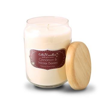 Cinnamon & Winter Berries candle large pop jar