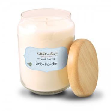 Celtic Candles Baby powder candle large pop jar
