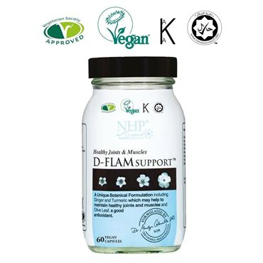 NHP D FLAM SUPPORT JOINTS & MUSCLE CAPSULES 60s