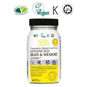 NHP ADVANCED BRAIN & MEMORY CAPSULES 60s