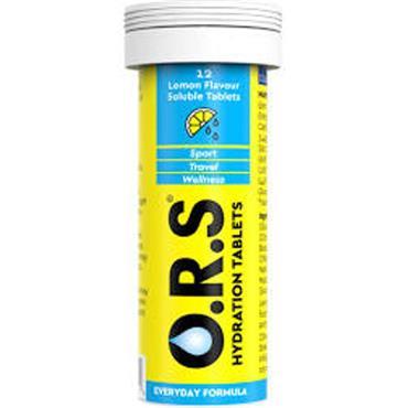 ORS Hydration tablets lemon 12