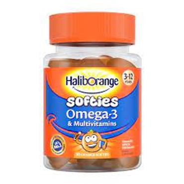 Haliborange Mr Men Omega 3 & Multivits 3 - 7 years Orange 30s