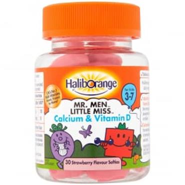 Haliborange Mr Men Calcium & Vitamin D 3 - 7 years Strawberry 30s