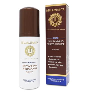 BELLAMIANTA RAPID SELF TANNING TINTED MOUSSE FACE & BODY 150ML